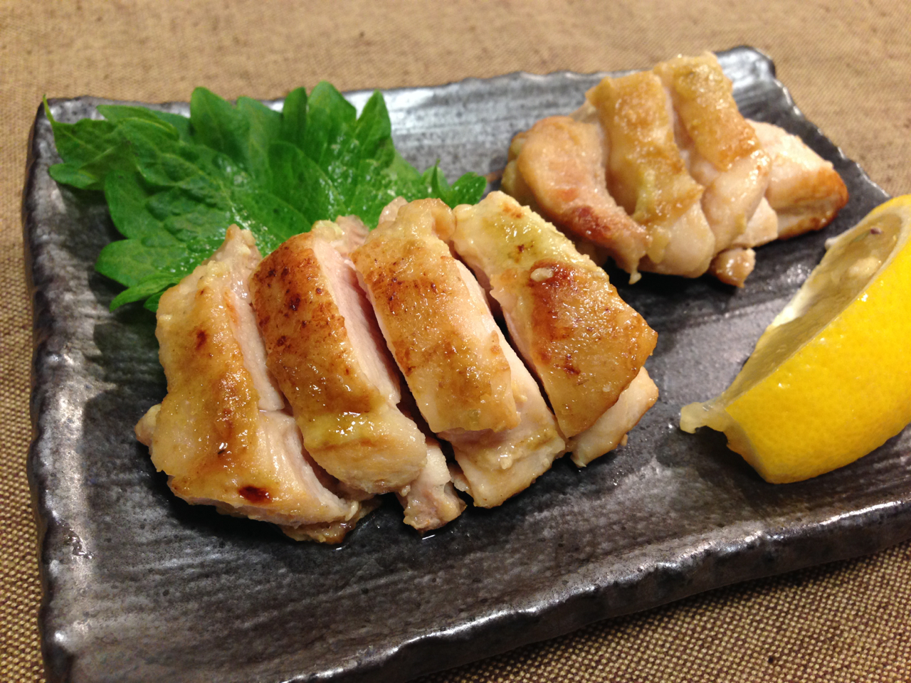 鶏のわさび焼き
